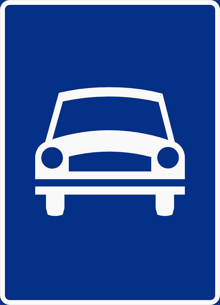 Trafikkskilt motorvei
